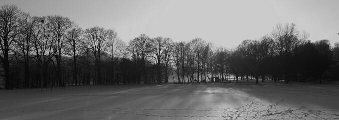 Ottensheim schwarz weiß im Winter