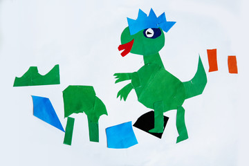 children's picture: Applique paper