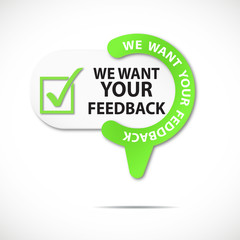 épingle bouton web : we want your feedback