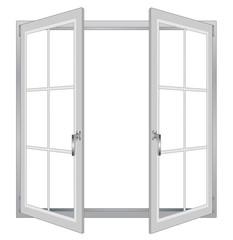 Opened plastic window vector eps 10