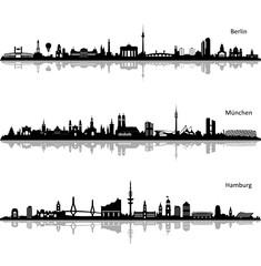 Skylines Berlin, Hamburg und München