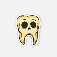 Sticker skull of tooth