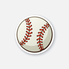 Sticker baseball ball