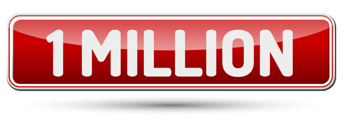 ONE MILLION - Abstract beautiful button with text.