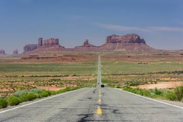 Famous road in Monument Valley, Utah, USA