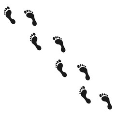 Human footprint icon set. Vector illustration.