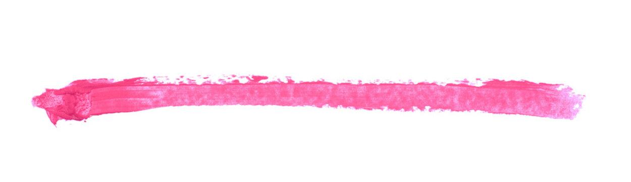 Single line marker stroke isolated