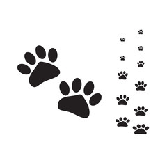 vector cat paws flat black design and concept