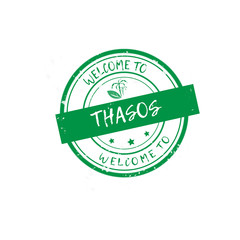 Welcome to Thasos stamp