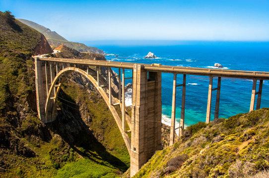 Bixby Bridge in Big Sur, California USA