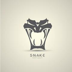 vector angry dangerous snake logo design