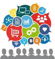 Social Media - Wir sprechen über ... Konsum, Austausch, Produkte, Industrie 4.0, digitale Welt