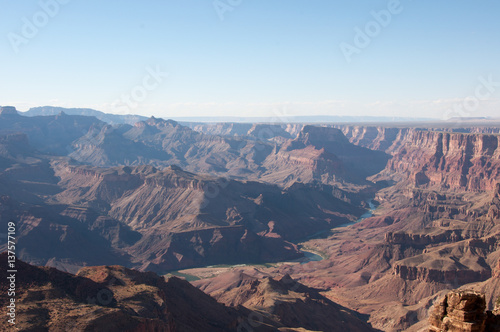 Winding Colorado River In Grand Canyon From The Desert View