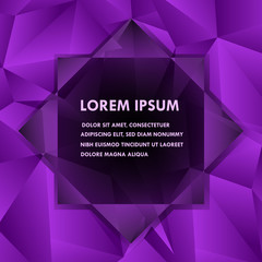 Abstract polygonal background. Elegant design element with place for your text.
