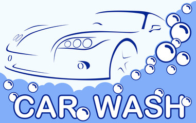 Car wash. Abstract Lines Logo. Vector illustration