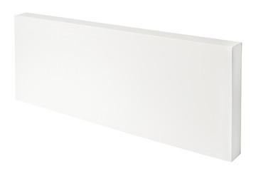 White thin cardboard box isolated on white background