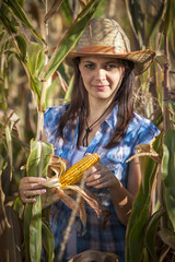 Young Woman In Cornfield, Croatia, Slavonia, Europe