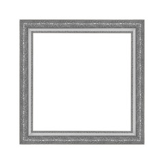 Gray picture frame isolated on white background
