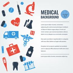 Medical background. Healthcare and Medical concept. Vector