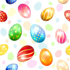 Seamless background with colorful Easter eggs