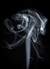 Abstract White Smoke  Background
