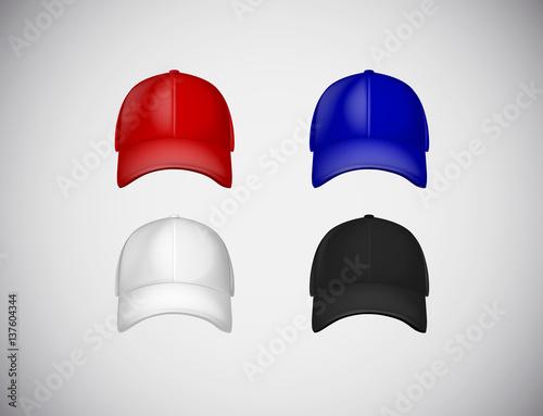 baseball cap template collection uniform fashion blank hat design