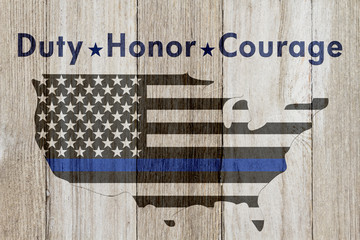 Duty Honor and Courage message