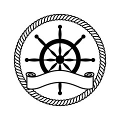 timon boat isolated icon vector illustration design