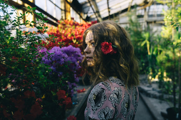the girl in flowers
