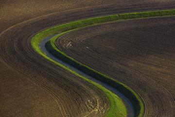 Agriculture, aerial view, Baranja, Croatia