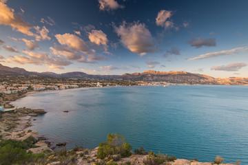 Panoramic view over  Albir in Alicante,Spain