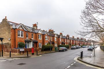 Chiswick suburb in winter, London