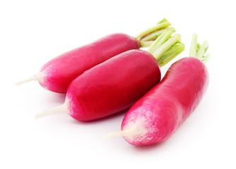 Fresh red radish.