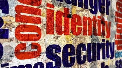 Wall Mural - Web security grunge concept