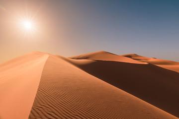 Sunrise over dunes of Erg Chebbi, Sahara, Merzouga, Morocco