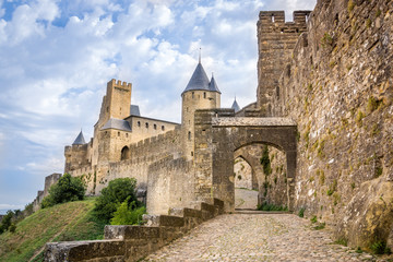 Remparts de la citadelle de Carcassonne, Aude Wall mural