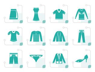 Stylized Clothing Icons - Vector Icon Set
