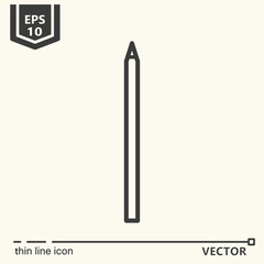 Pencil. One icon - office supplies series