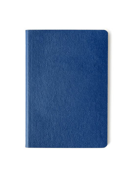 Blue passport background on white background with clipping path.