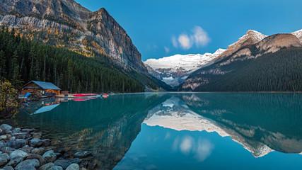 Lake Louise Reflection at Dawn, Banff National Park, Alberta, Canada