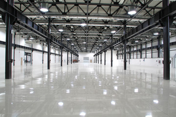 New modern storehouse, background for industry