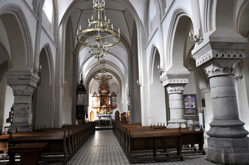 The interior of the Dominican church in the Ukrainian city Chertkov, which was built in 1620.
