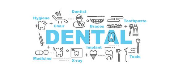 dental vector banner