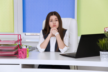 office worker tired of hard work.