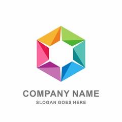 Colorful Circular Triangle Hexagon Cube Box Star Arrow Fashion Accessories Business Company Stock Vector Logo Design Template
