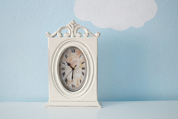 Clock in the nursery room
