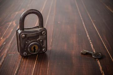 Old retro padlock