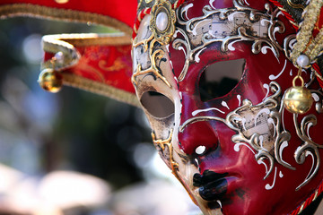 Venice mask in store on the street