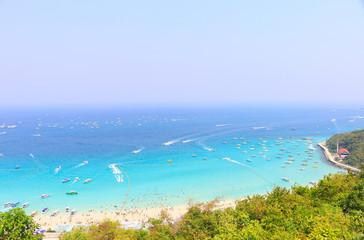Beautiful Landscape of thailand sea ,koh-larn island- Pattaya
