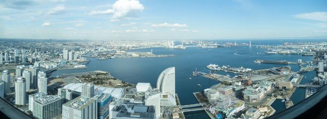 横浜風景(横浜ランドマークタワー展望台からの風景)